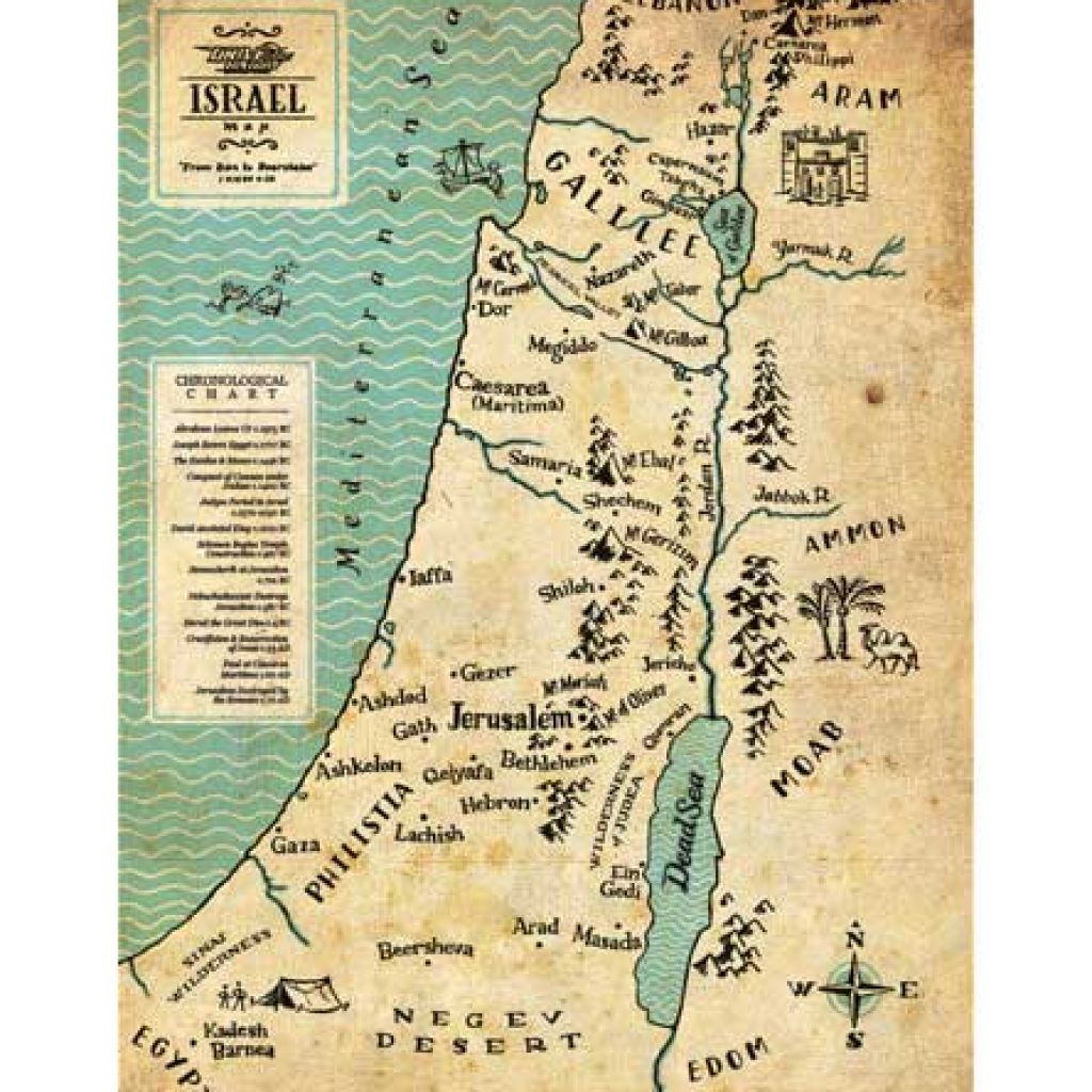 "Map of Israel - exclusive artwork from ""The Gospels"" – Drive Thru ..."