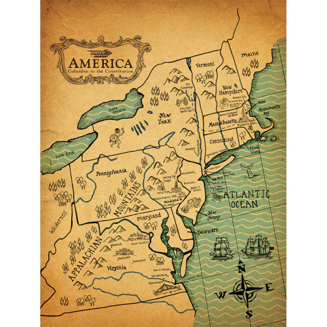 Colonial America Map – Drive Thru History®
