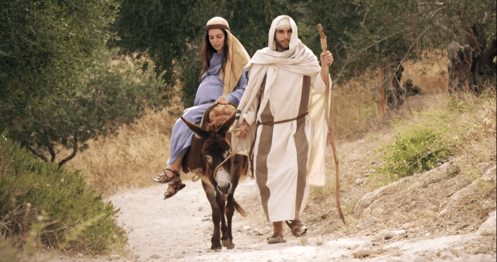 Image result for joseph and mary travel to bethlehem