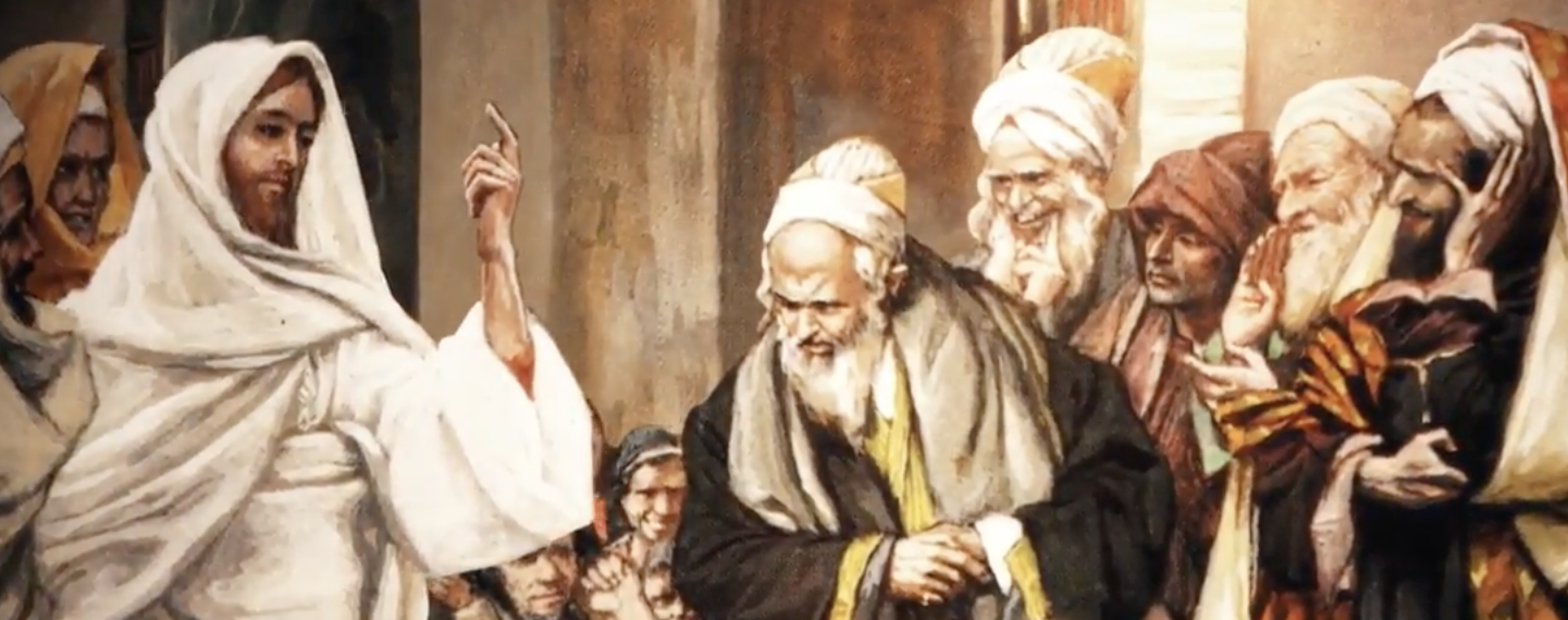 Image result for Jesus confronts the chief priests and elders